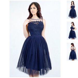 Dresses & Skirts - Miss Avene Navy Dress